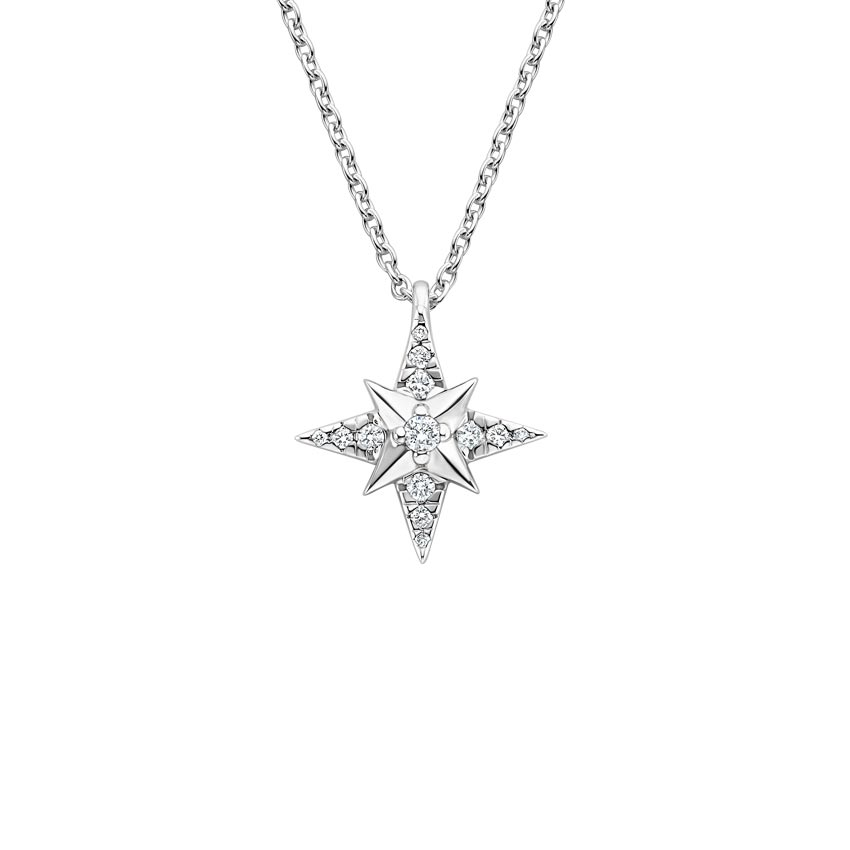Luxe North Star Diamond Pendant