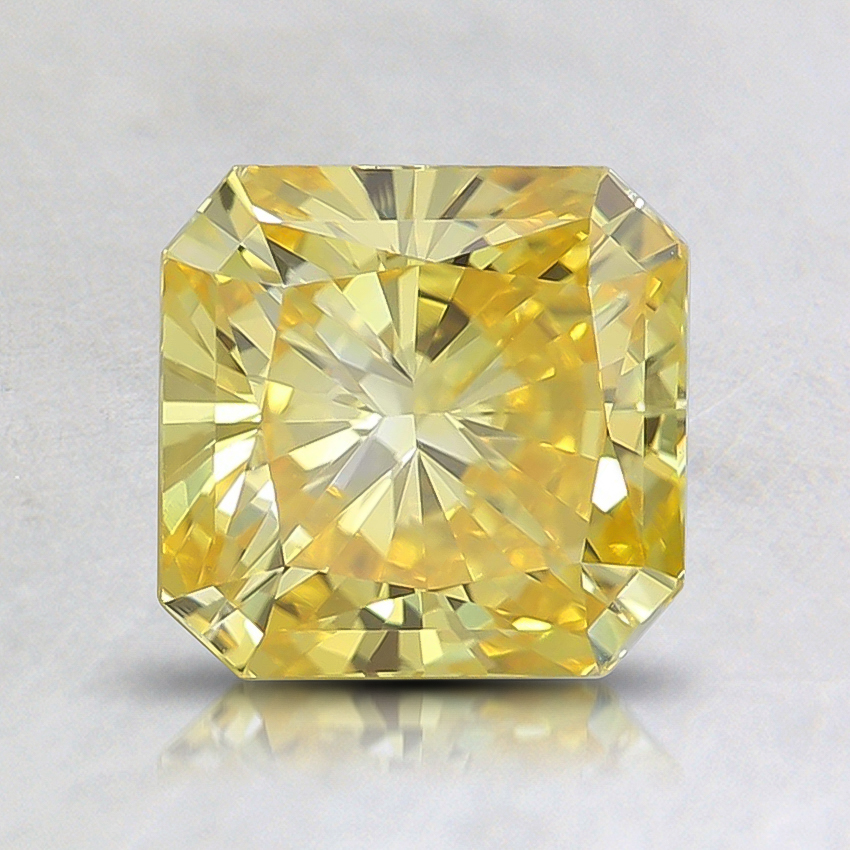 1.40 Ct. Fancy Vivid Orangy Yellow Radiant Lab Created Diamond