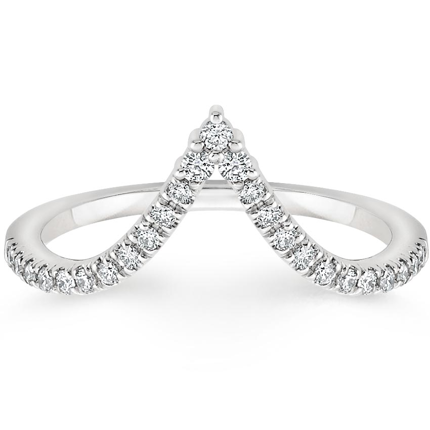 Nouveau Diamond Ring in 18K White Gold