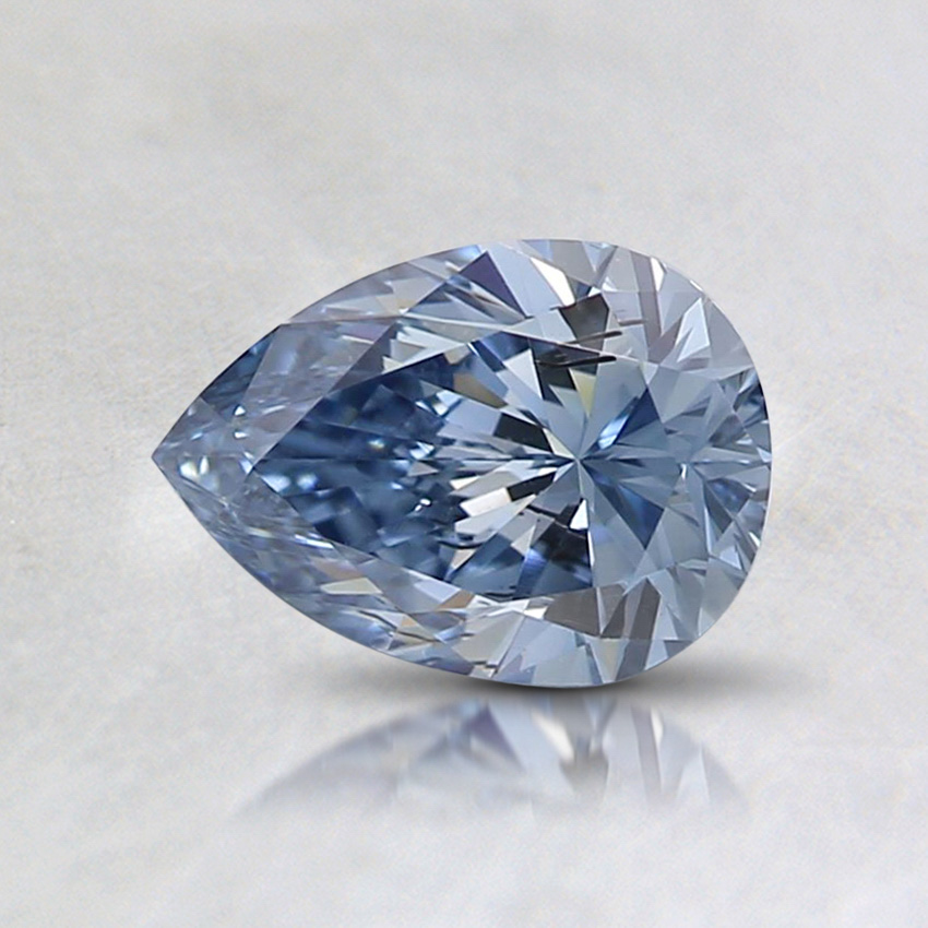 0.60 Ct. Fancy Vivid Blue Pear Lab Created Diamond