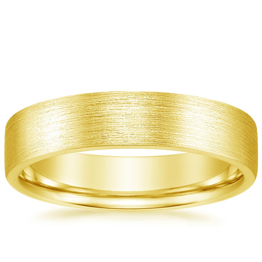 Yellow Gold 5mm Mojave Matte Wedding Ring