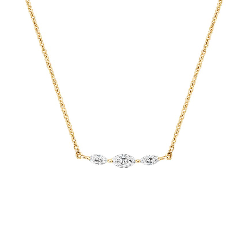 Three Marquise Diamond Necklace