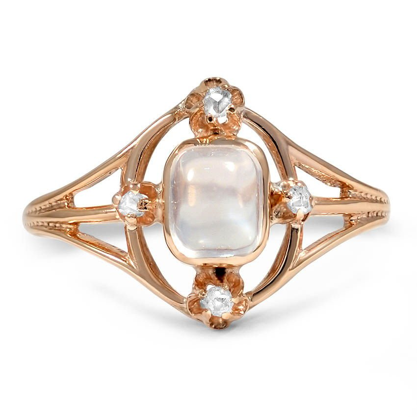 Art Nouveau Moonstone Vintage Ring