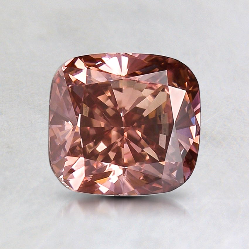 1.27 Ct. Lab Created Fancy Intense Pink Cushion Diamond