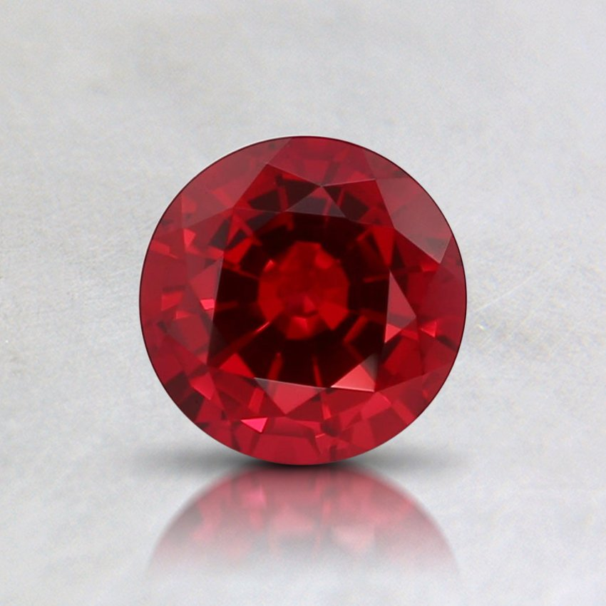 5.5mm Round Lab Created Ruby