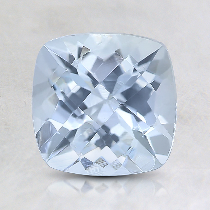 7mm Fine Cushion Aquamarine
