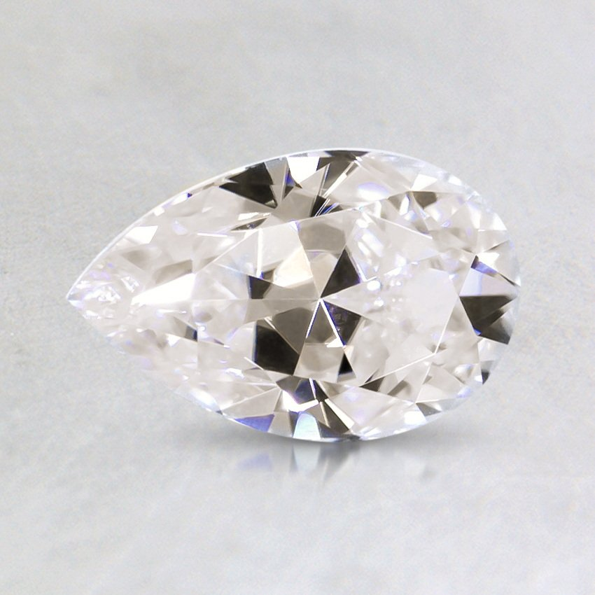 8x5mm Premium Pear Moissanite, top view