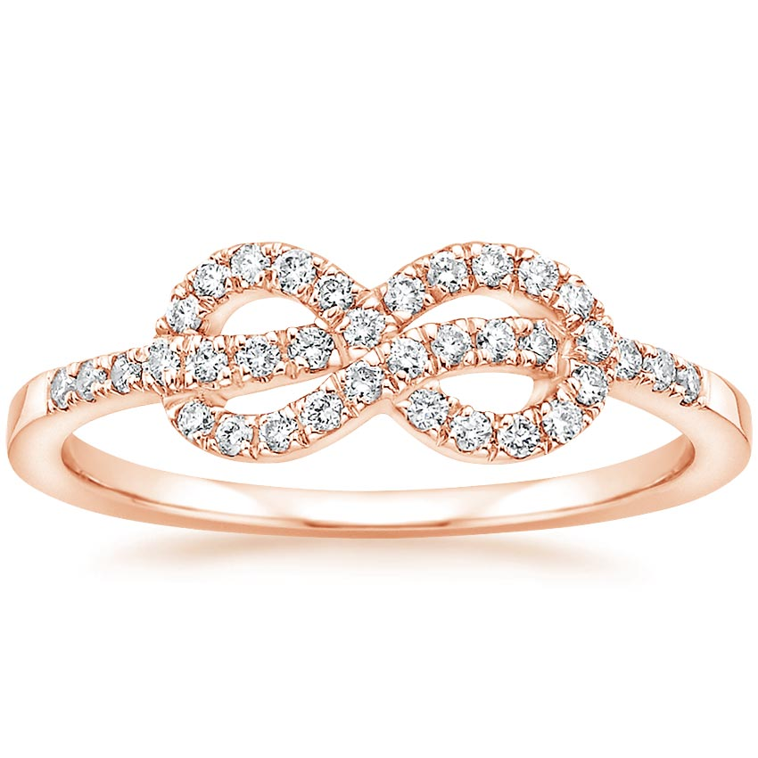 Rose Gold Knot Diamond Ring