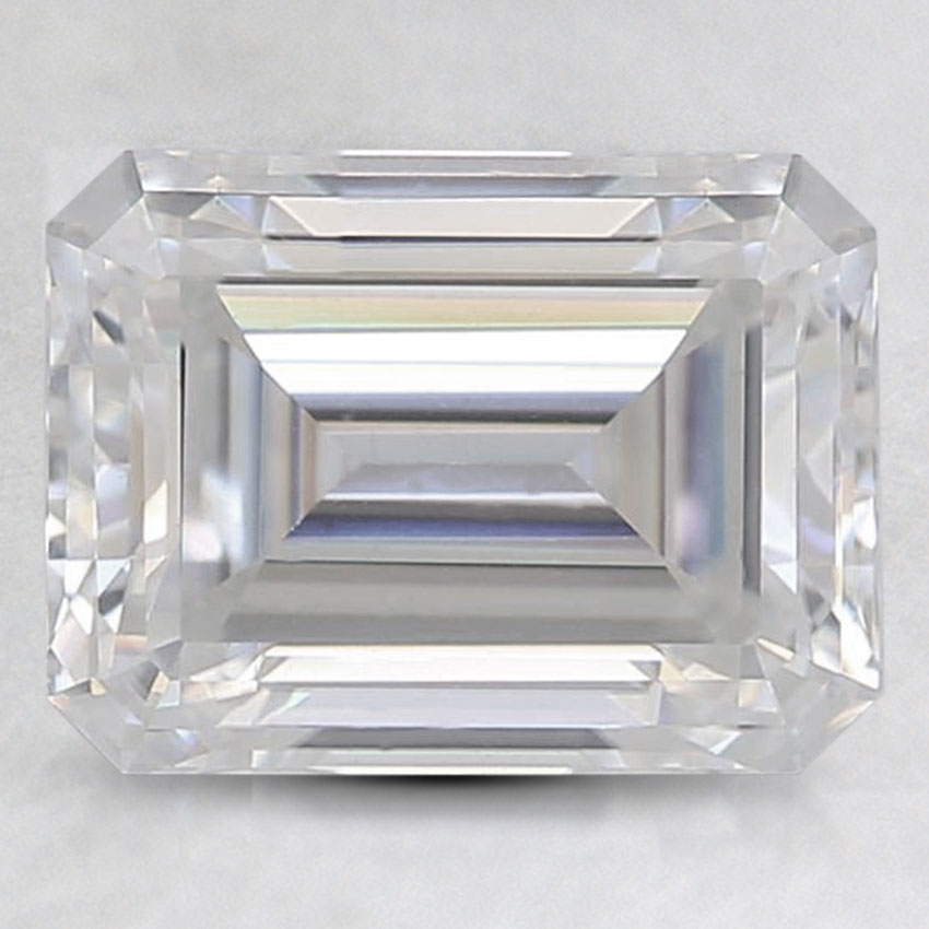 9x7mm Super Premium Colorless Emerald Moissanite