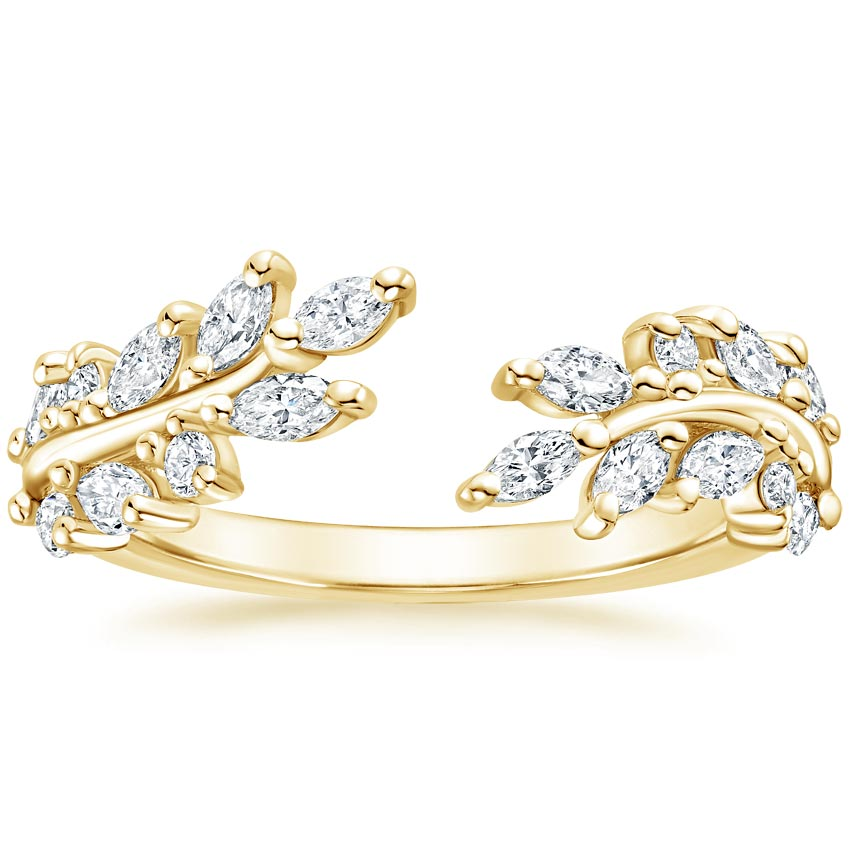 Yellow Gold Sweeping Ivy Diamond Ring (1/2 ct. tw.)