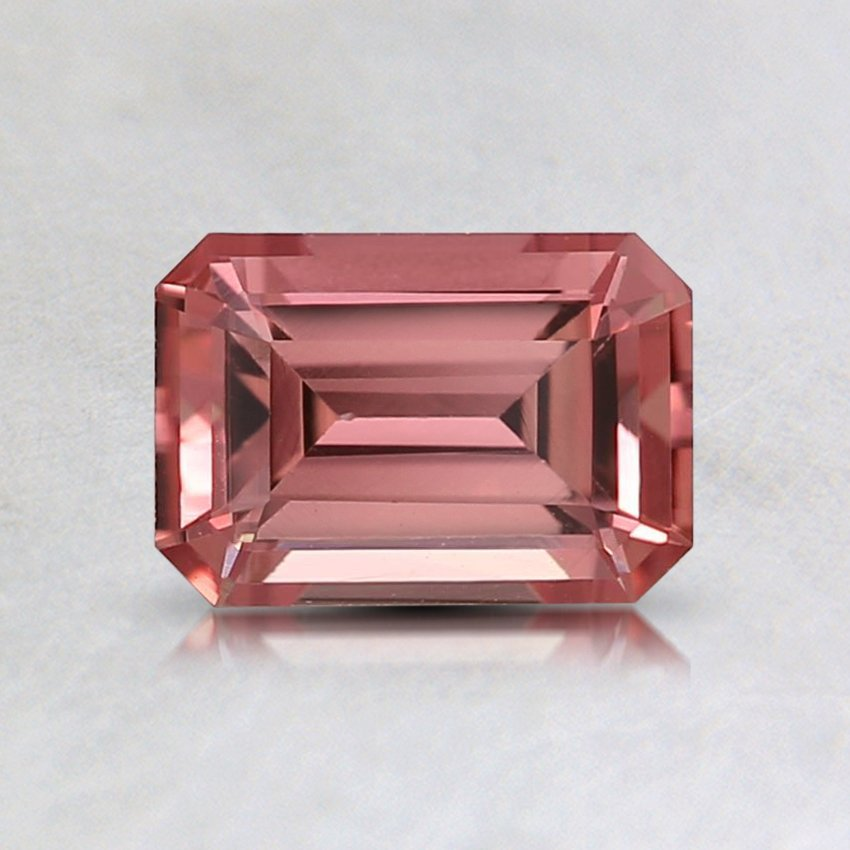 6.5x4.5mm Super Premium Pink Emerald Sapphire, top view