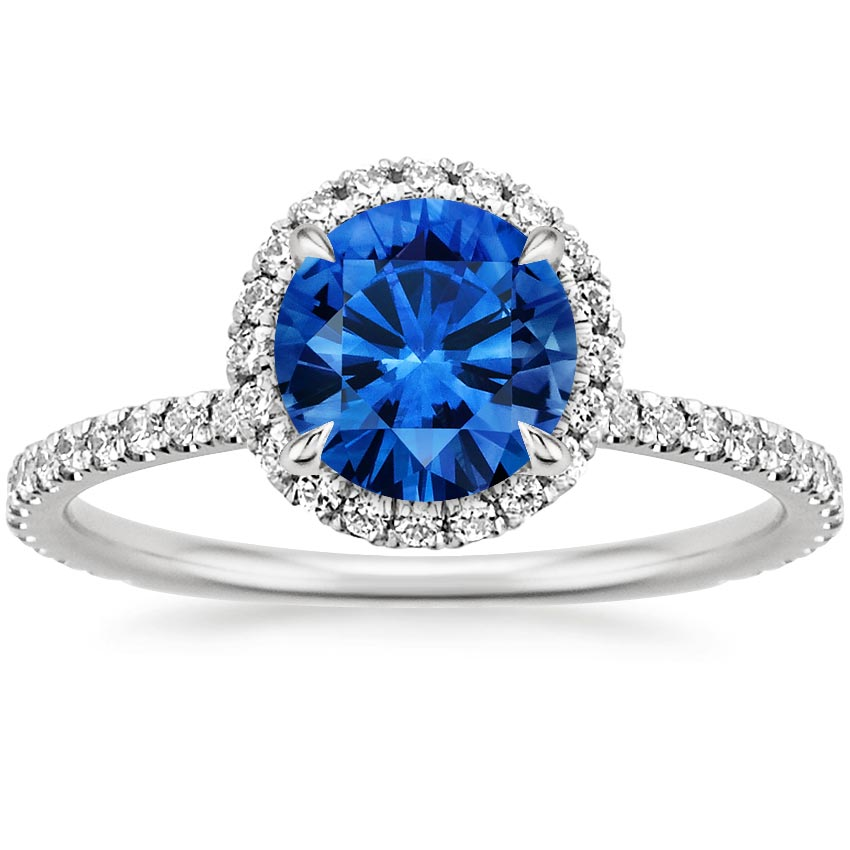Top Twenty Sapphire Rings - SAPPHIRE WAVERLY DIAMOND RING