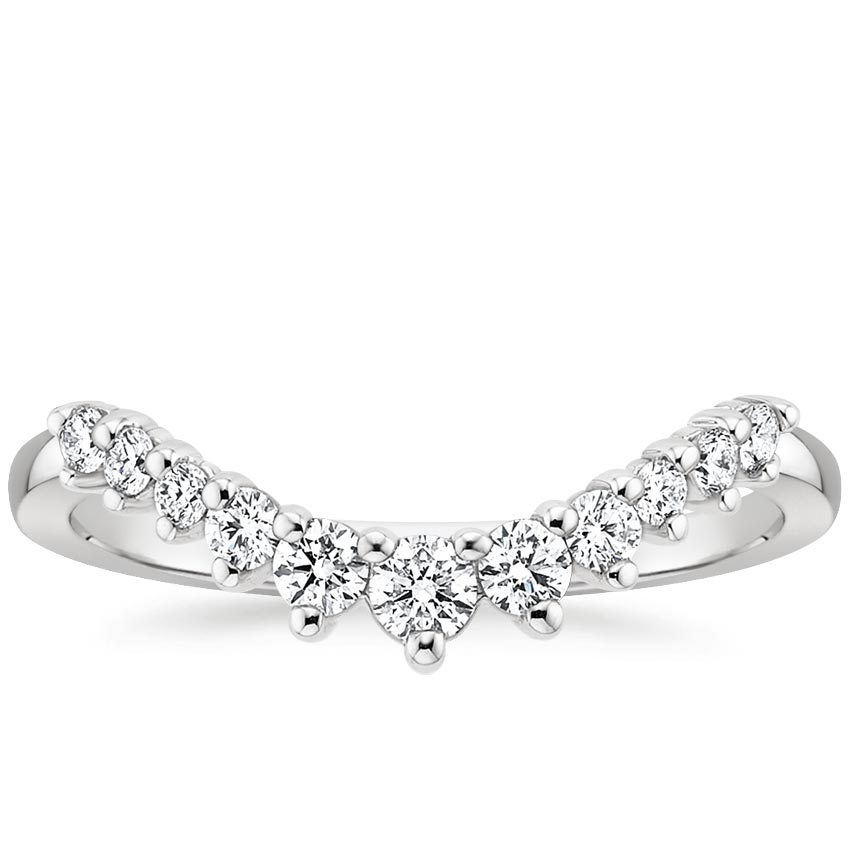 Curved Diamond Stacking Ring