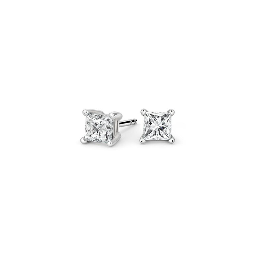 Princess Diamond Stud Earrings (1/2 ct. tw.) in 18K White Gold