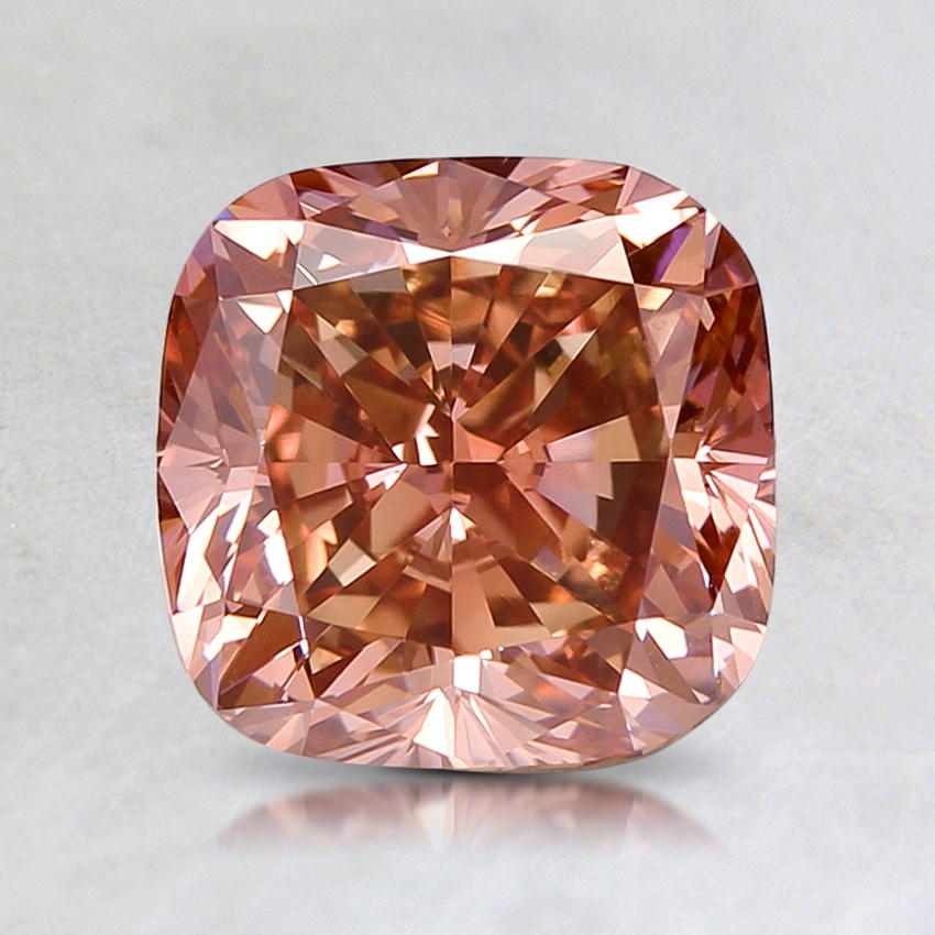 1.85 ct. Lab Created Fancy Intense Pink Cushion Diamond, top view
