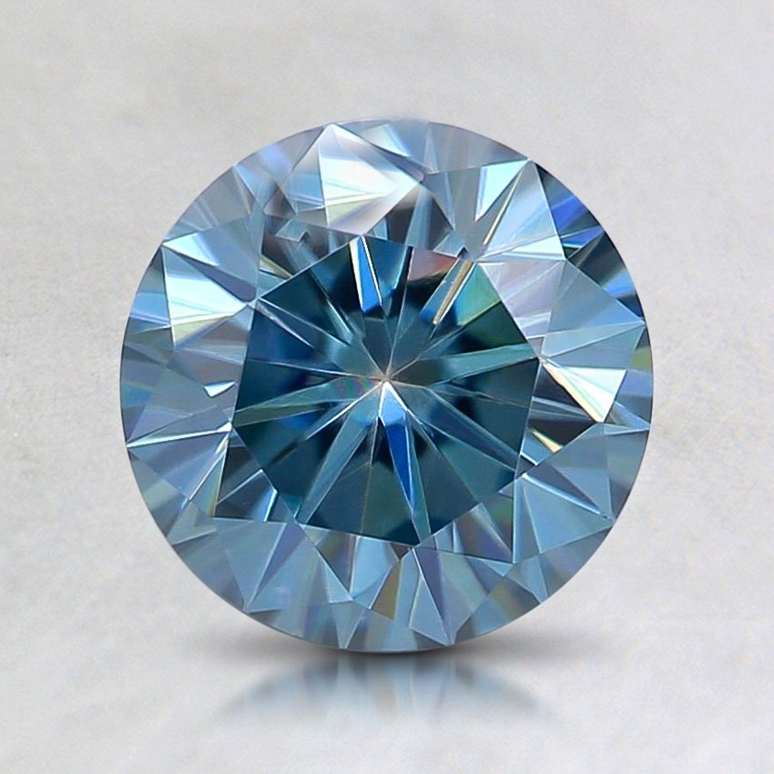 7mm Premium Blue Round Moissanite