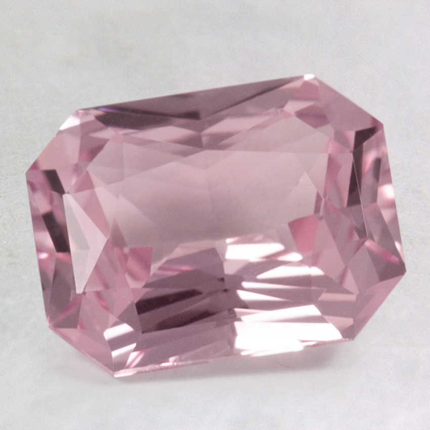 9x7mm Pink Radiant Sapphire, top view