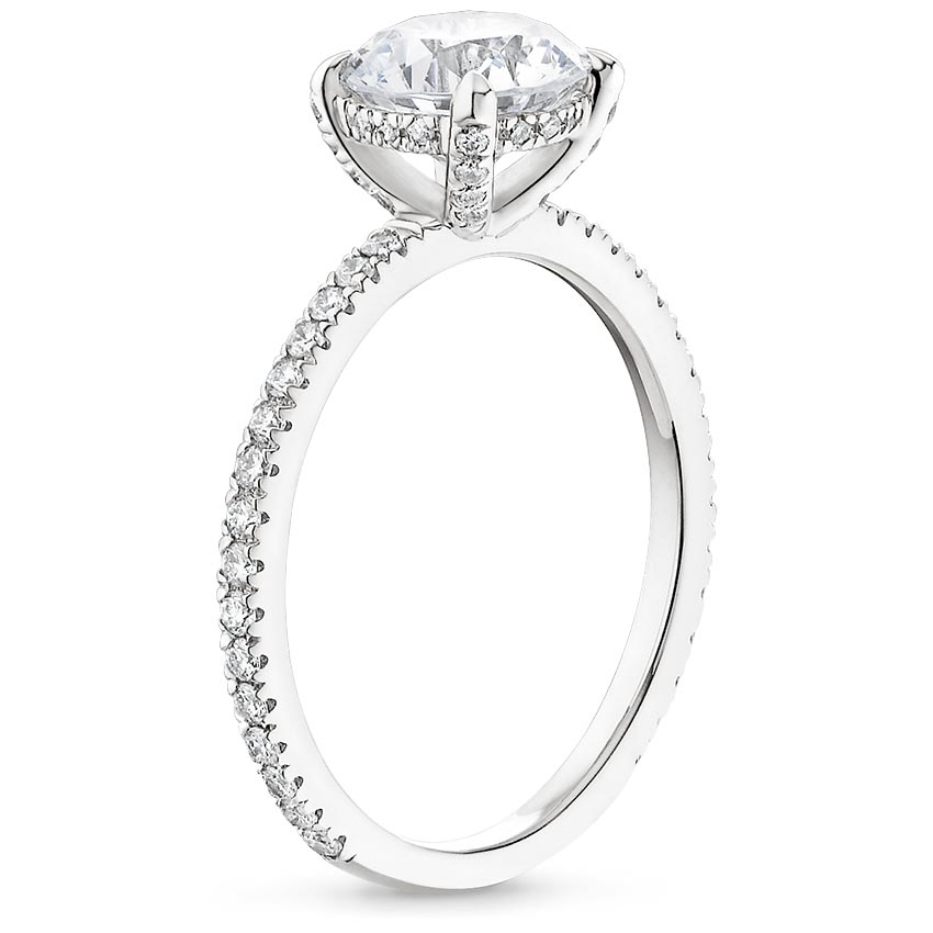 exquisite ring engagement diamond gold white sapphire on and