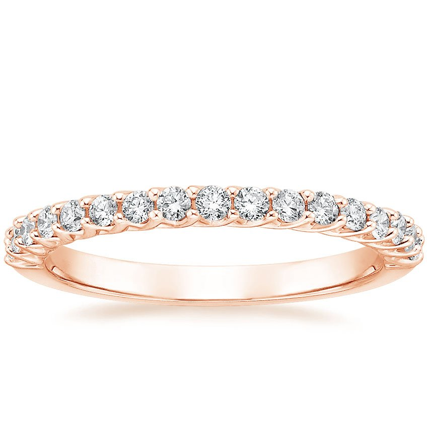 Rose Gold Trellis Shared Prong Diamond Ring
