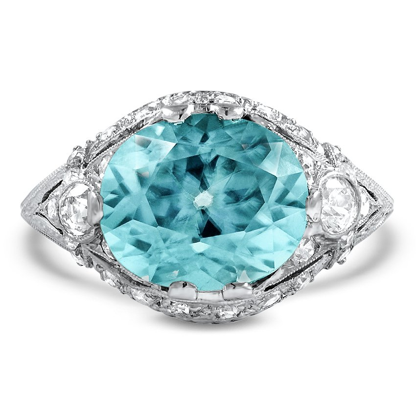 Art Deco Zircon Cocktail Ring