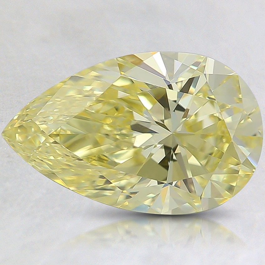 1.57 Ct. Fancy Intense Yellow Pear Lab Created Diamond