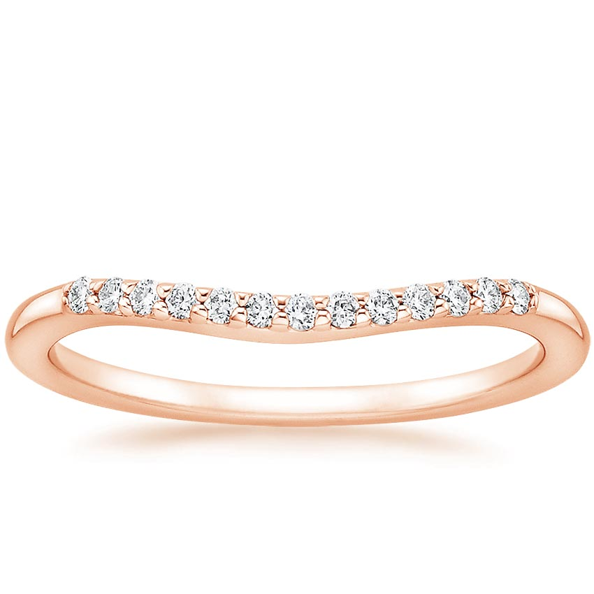 Rose Gold Petite Curved Diamond Ring (1/10 ct. tw.)