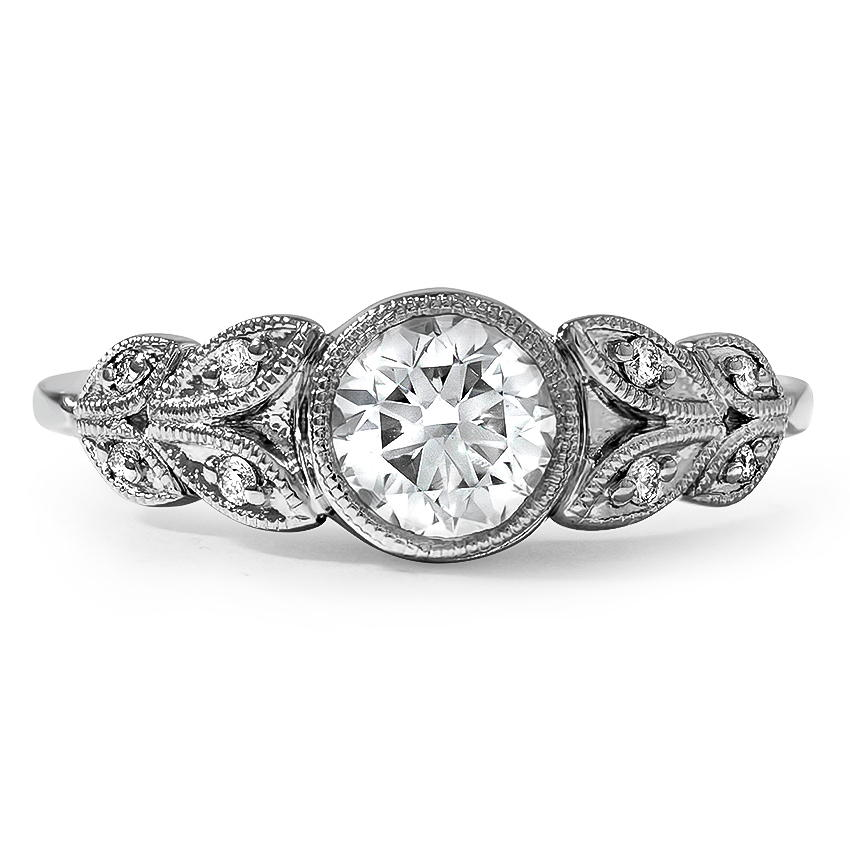 Top Twenty Custom Rings - ANTIQUE INSPIRED FLORAL MILGRAIN DIAMOND RING