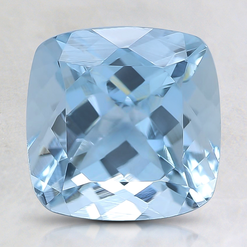 8mm Fine Cushion Aquamarine
