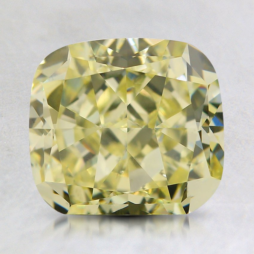 2.39 Ct. Fancy Light Yellow Cushion Diamond