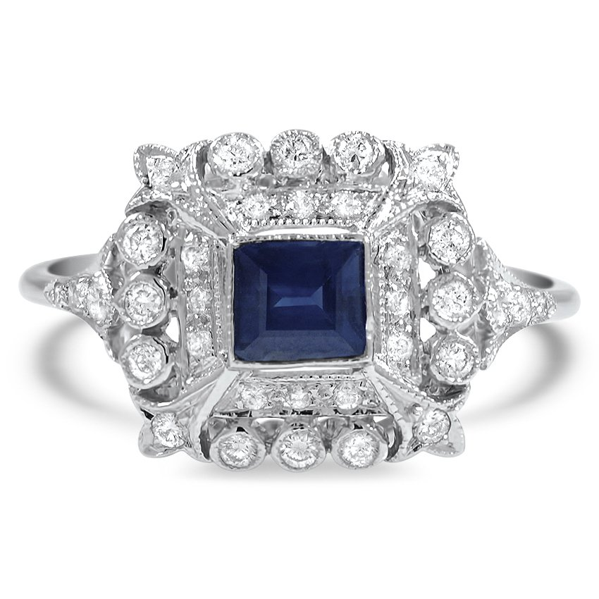 Edwardian Reproduction Sapphire Vintage Ring