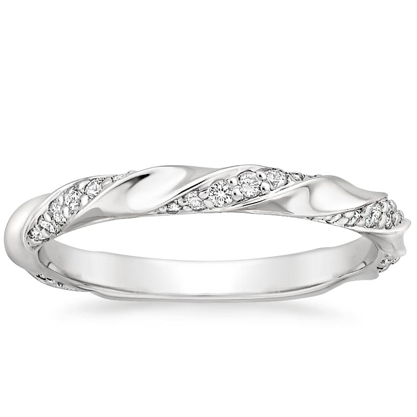 Twisted Pavé Wedding Ring