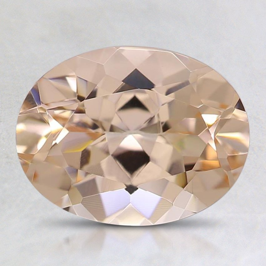9x7mm Peach Oval Morganite, top view