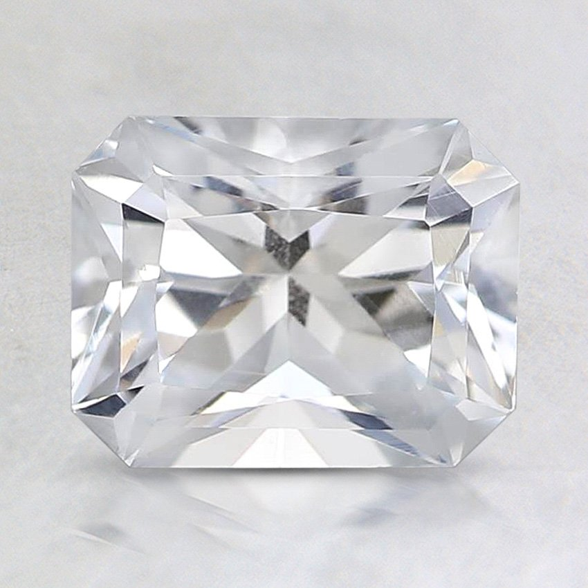 7.7x6mm White Radiant Sapphire