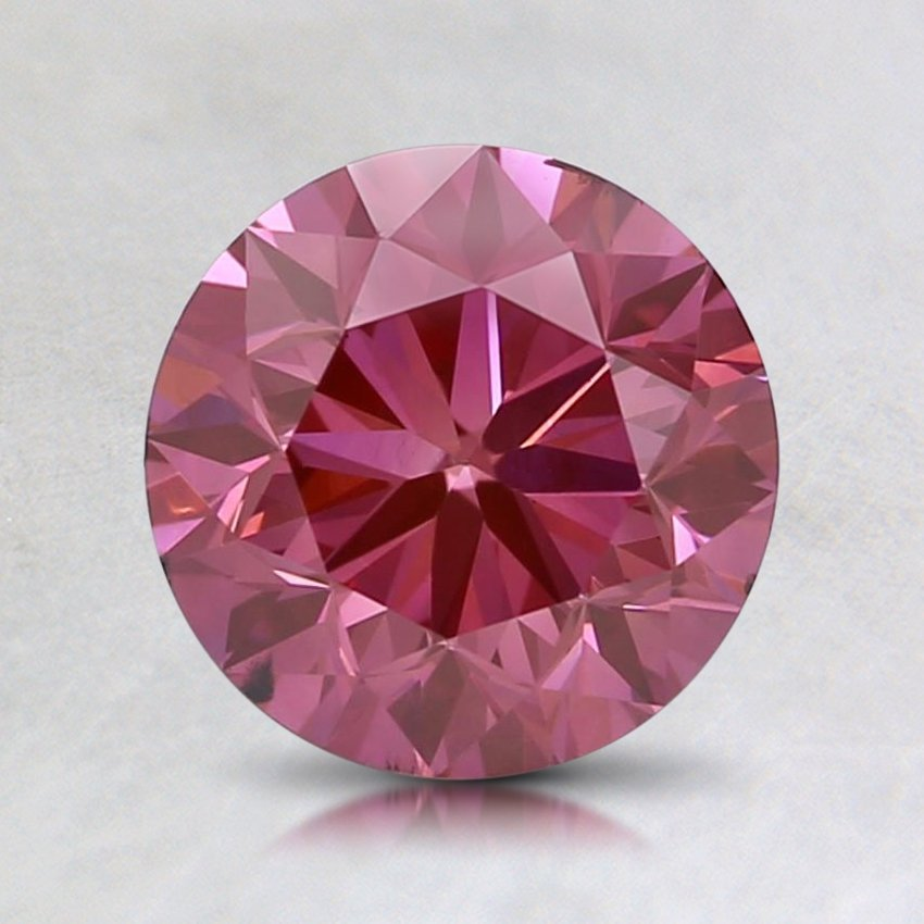 1.00 Ct. Lab Created Fancy Vivid Pink Round Diamond
