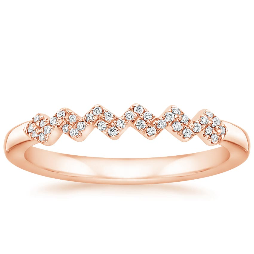 Rose Gold Prism Diamond Ring