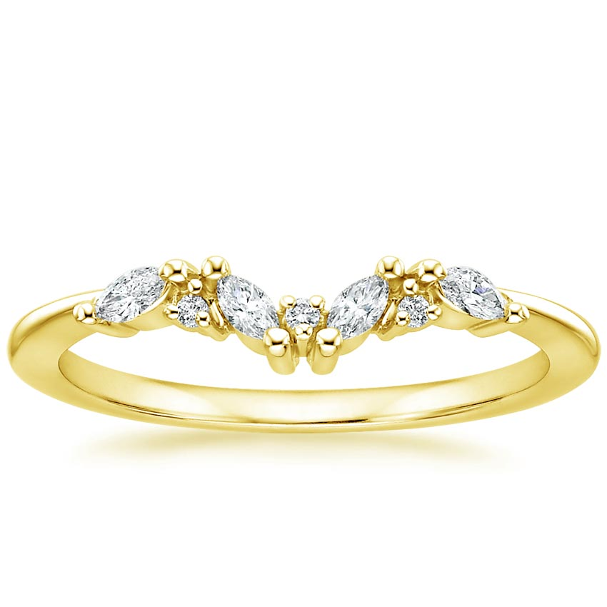 Yellow Gold Yvette Diamond Ring