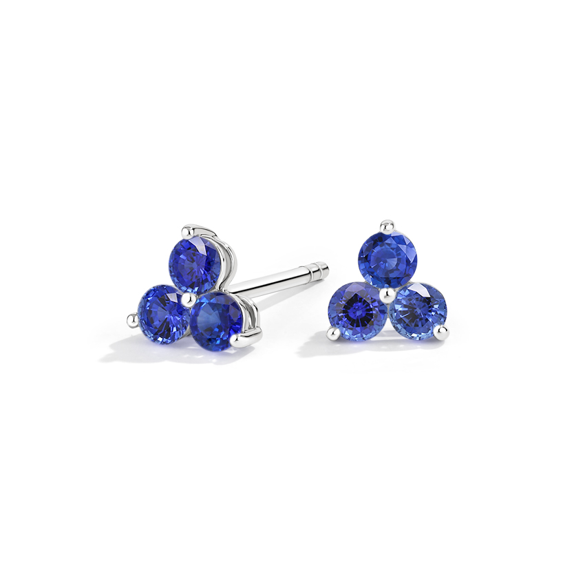 Three Sapphire Earrings