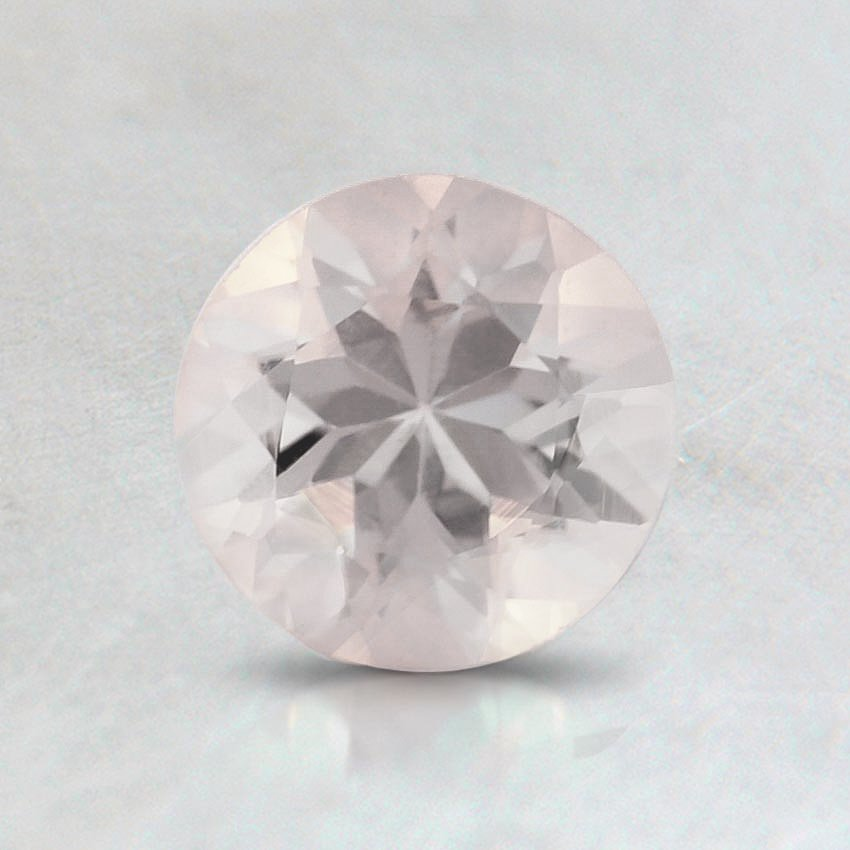 6mm Pink Round Morganite, top view