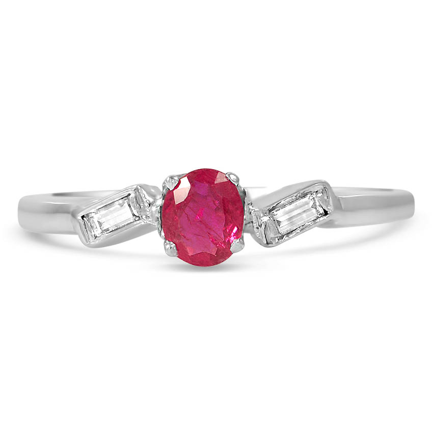 Art Deco Ruby Vintage Ring