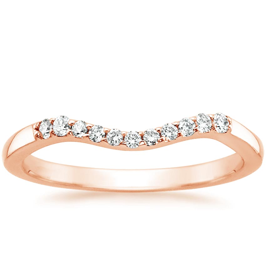 Rose Gold Chamise Contoured Diamond Ring