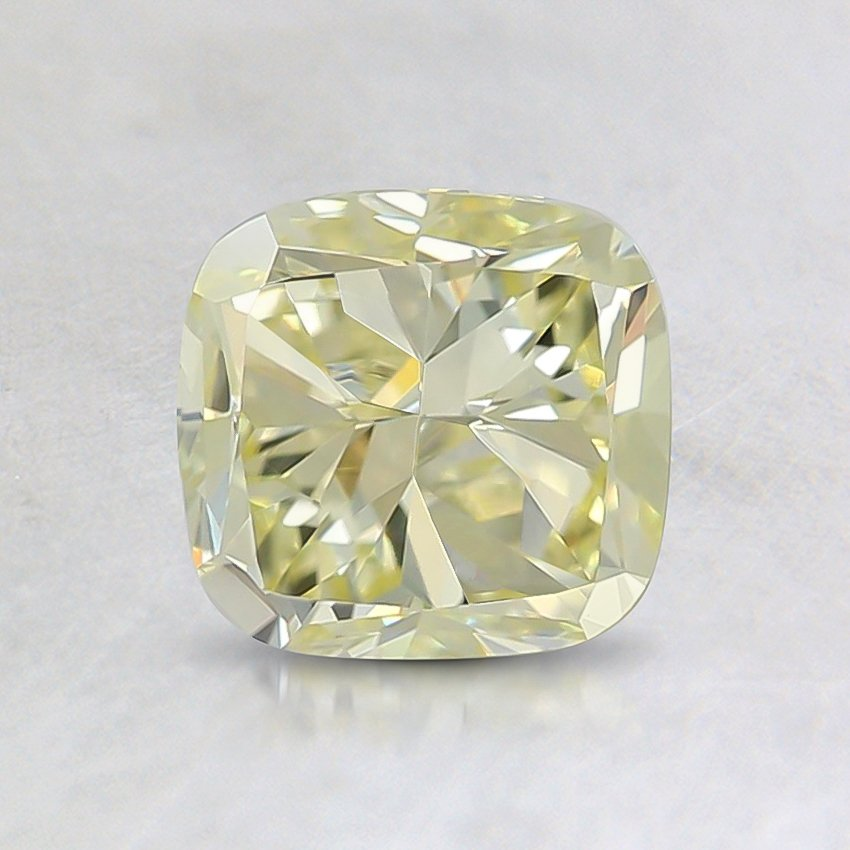 1.09 Ct. Fancy Light Yellow Cushion Diamond