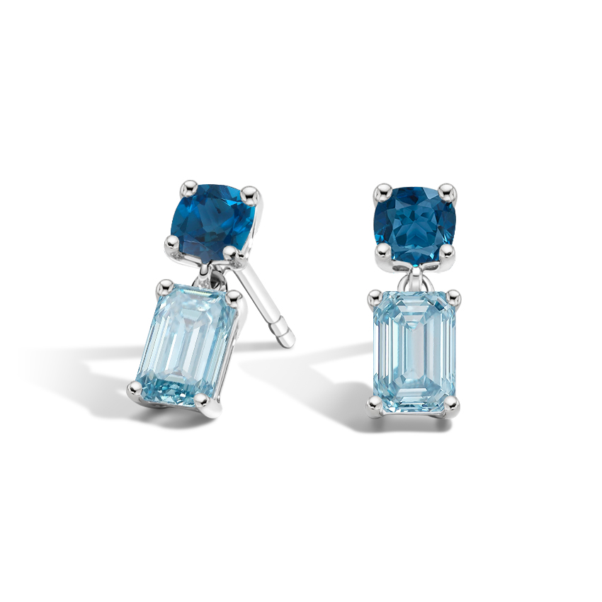 Topaz and Aquamarine Drop Earrings