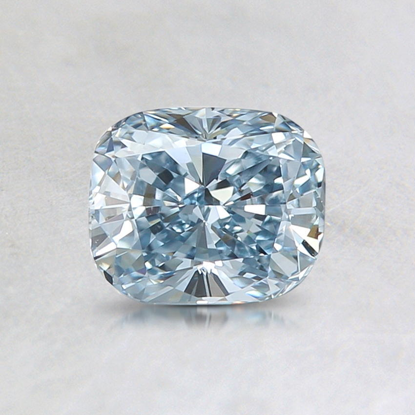 0.77 Ct. Lab Created Fancy Light Blue Cushion Diamond