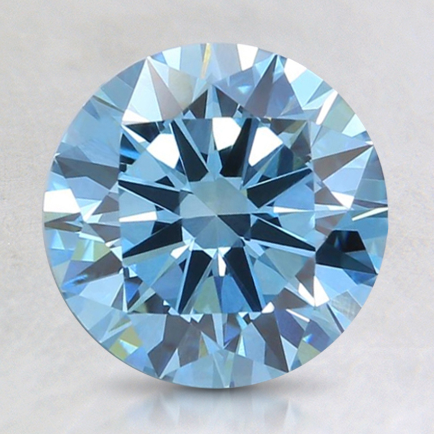 2.00 Ct. Fancy Intense Blue Round Lab Created Diamond