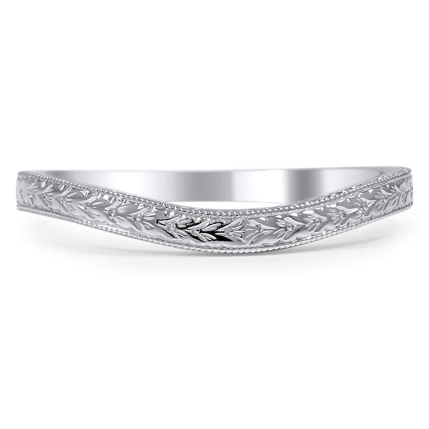 Custom Contoured Hand Engraved Wedding Band