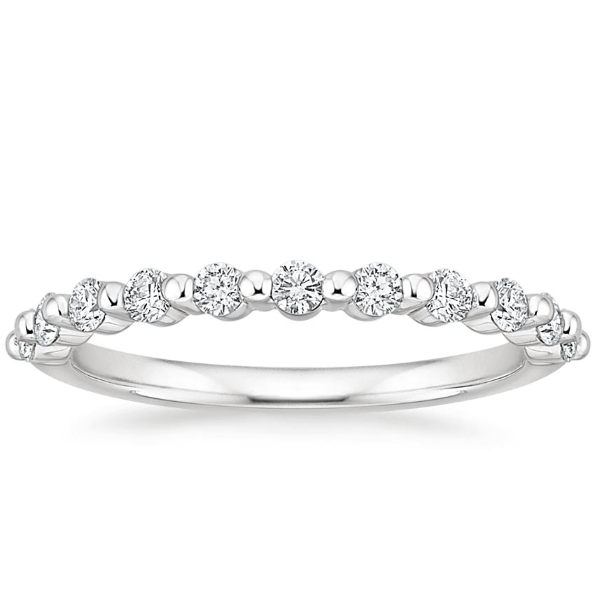 Single Shared Prong Diamond Ring
