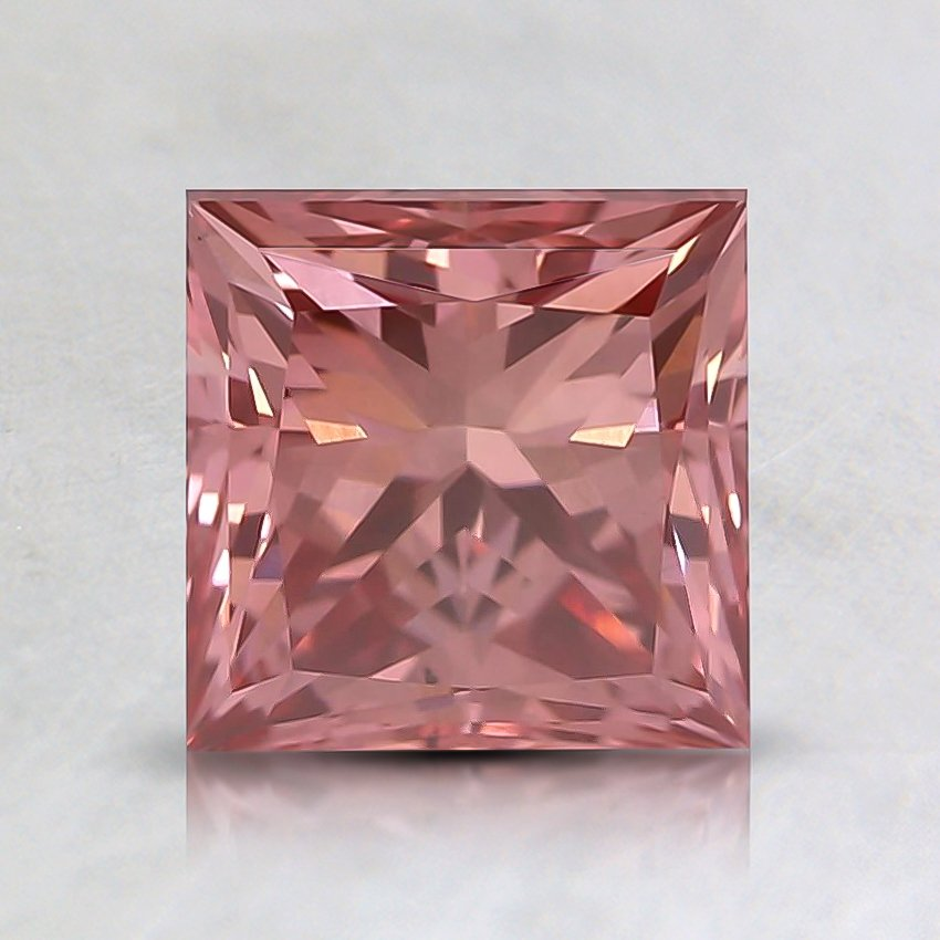 1.45 Ct. Fancy Deep Pink Princess Lab Created Diamond