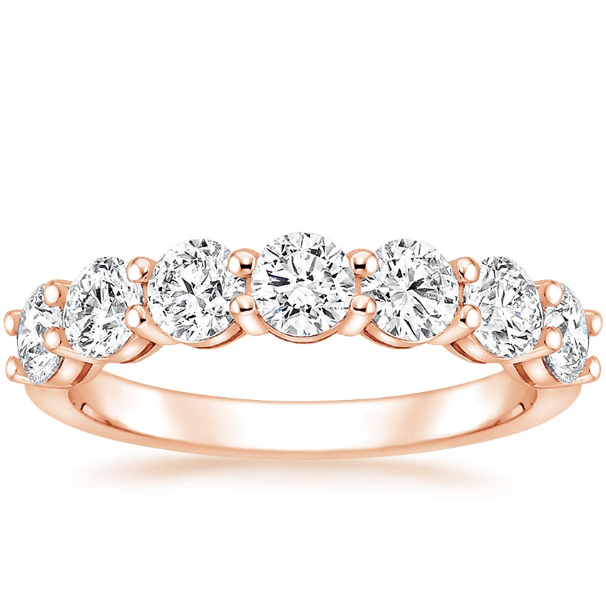 Rose Gold Round Seven Stone Diamond Ring (1 1/2 ct. tw.)