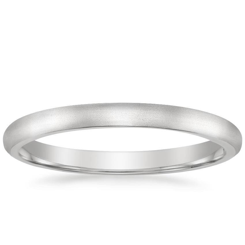 2mm Matte Comfort Fit Wedding Ring Brilliant Earth