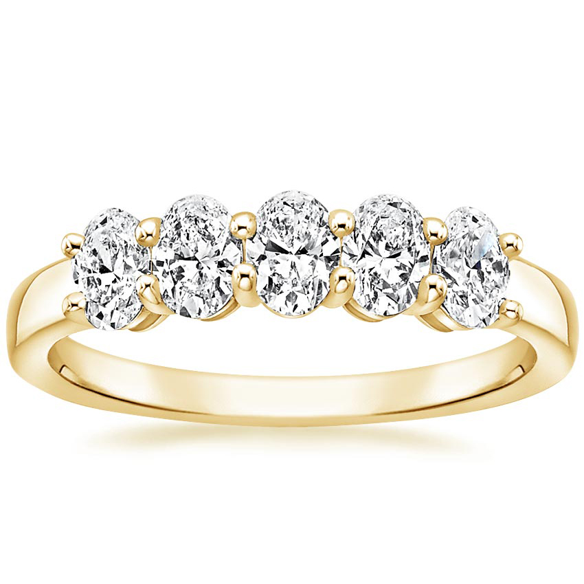 Yellow Gold Oval Five Stone Diamond Ring (1 ct. tw.)
